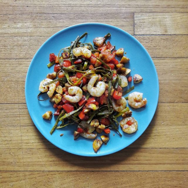 Als lunch voor de eerste keer zeewier gegeten van seamorefoodhellip
