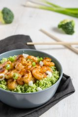 Hoisin garnalen met broccolirijst